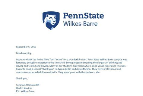 PSU Wilkes-Barre Testimonial