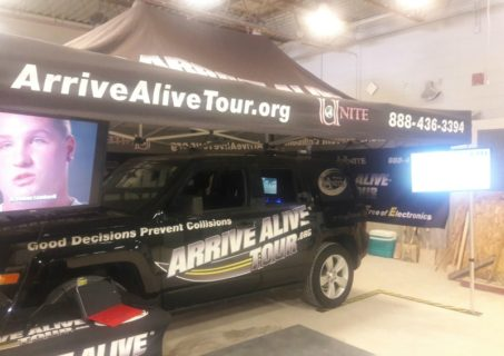 Arrive Alive Tour - Anderson-Oconee Behavorial Health - Texting while driving simulator