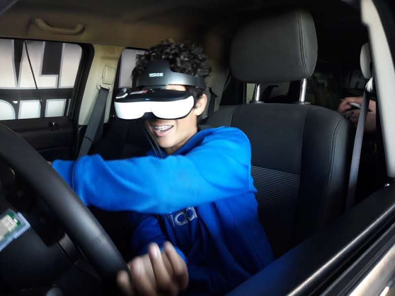 Arrive Alive Tour - distracted driving simulator - Lompoc HS 2