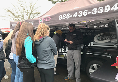 Distracted Driving Simulator at Thurston High School - Arrive Alive Tour