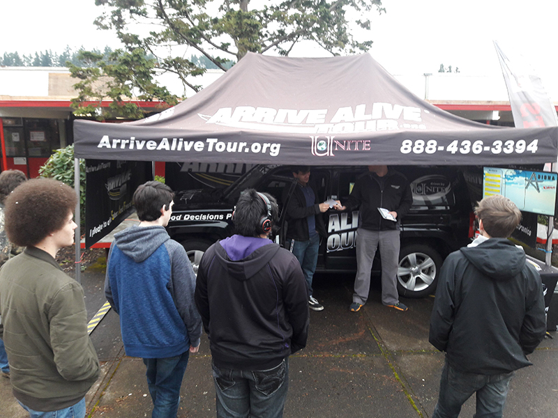 Texting and Driving Simulator - Arrive Alive Tour - Thurston HS