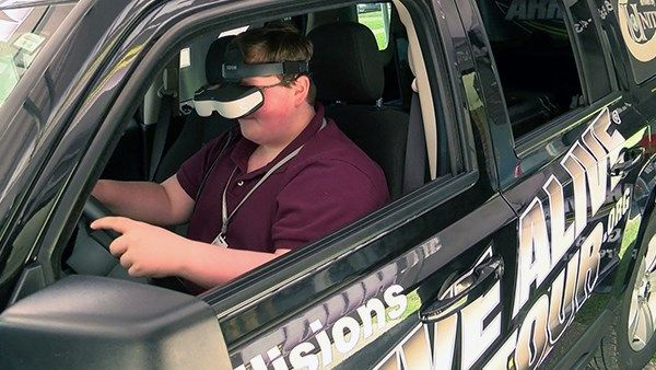 Texting and driving simulator in Louisiana