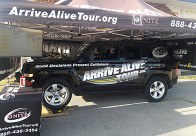 Drinking and driving simulator - Arrive Alive Tour - Michigan Tech