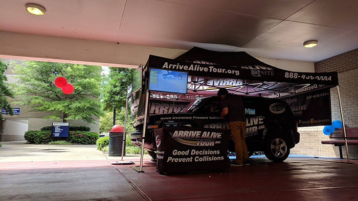 Distracted driving simulator - Arrive Alive Tour