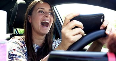 Women texting and driving more