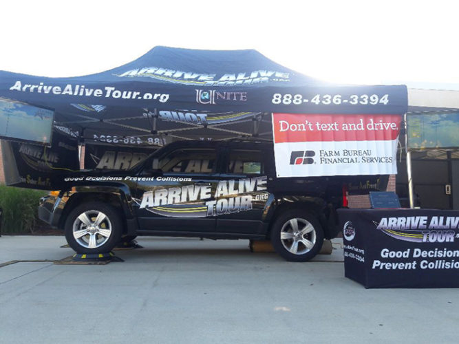 Texting and driving simulator - Arrive Alive Tour