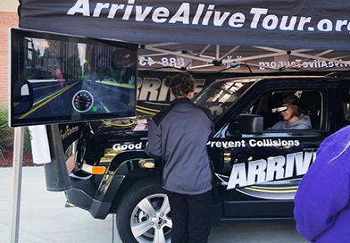 Dangers of texting and driving - Arrive Alive Tour