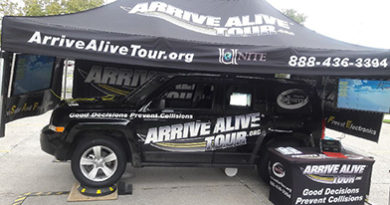 Distracted driving program - Arrive Alive Tour - Lamar State College - Port Arthur
