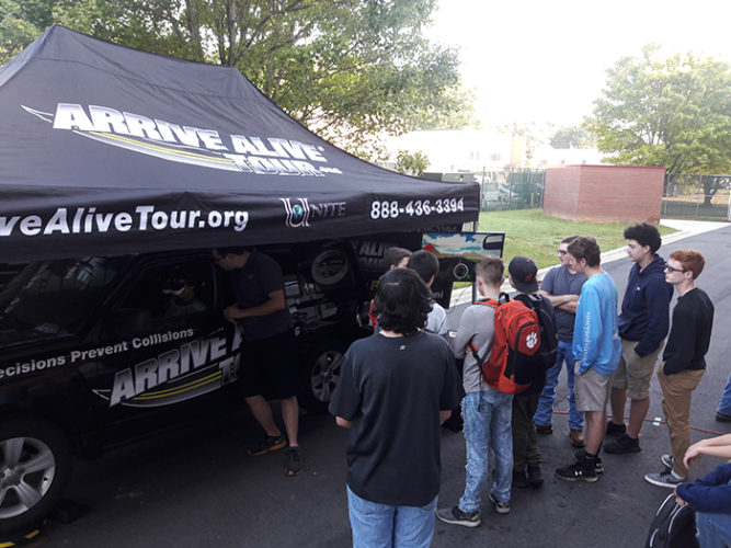 Texting while driving simulator - Arrive Alive Tour - Innovative High Schools